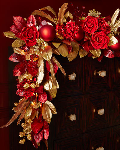 Crimson & Gold 6' Christmas Garland