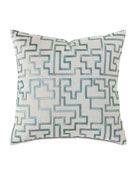 "Central Park Fretwork Pillow, 22""Sq."
