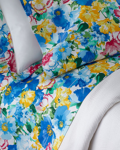 Two Standard 300TC Ashlyn Floral Pillowcases