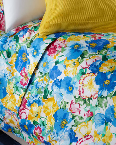 Full 300TC Ashlyn Floral Flat Sheet