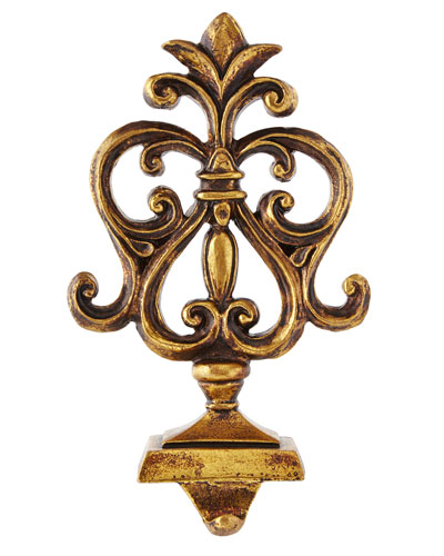 Baroque Golden Inverted Heart Stocking Hook