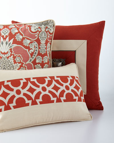Coral Cruise Jewel Outdoor Pillow