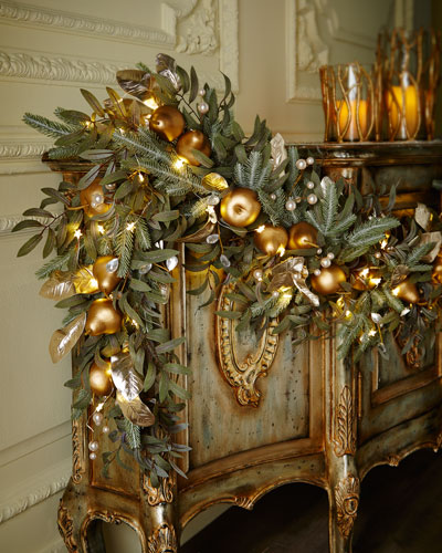 Frosted Gold 6' Christmas Garland