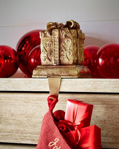 Square Gift Box Christmas Stocking Holder