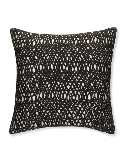 Metallic Pillow with Black Netting, 20