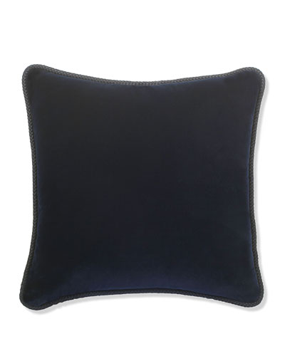 Indigo Velvet Pillow, 22