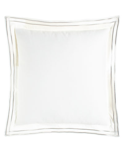 Lara Pillow with Embroidered Flange, 18