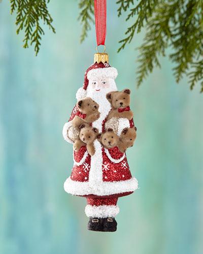 Santa & His Furry Friends Christmas Ornament