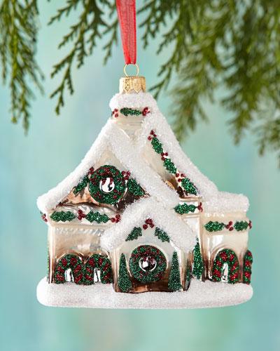 Santa's Chalet Christmas Ornament
