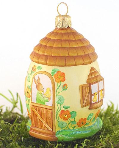 Kensington Cottage Nasturtium Egg Ornament