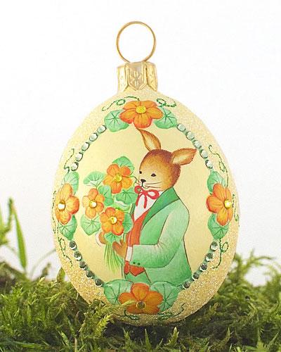 The Bouquet: Nasturtium Medium Egg Ornament