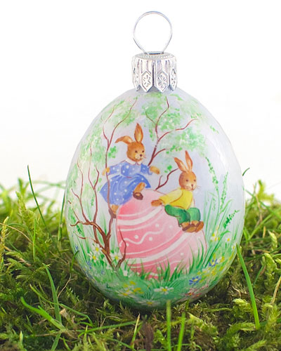 Come Spring Medium Pastoral Egg Ornament