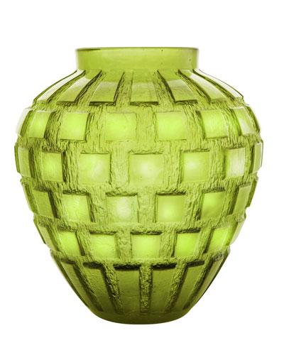 Olive-Green Rhythms Vase