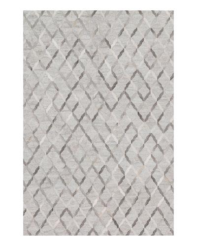 Audie Silver Hairhide Rug, 5' x 7'6