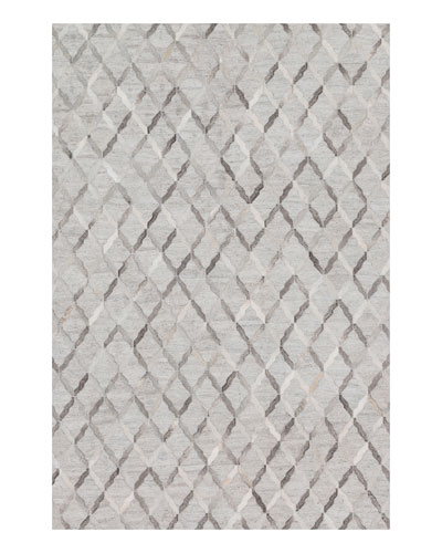 Audie Silver Hairhide Rug, 9'3