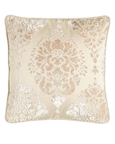 Aristocrat Velvet Damask Pillow, 20