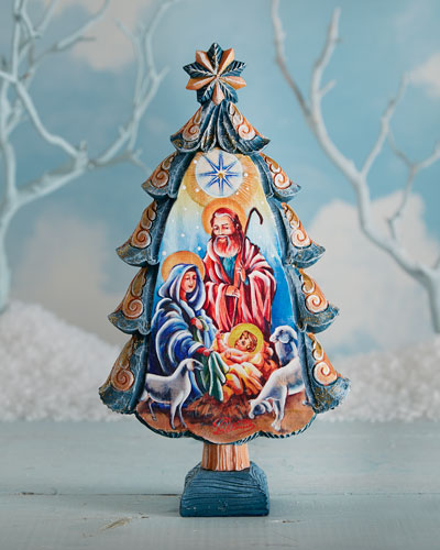 Nativity Tree Figure