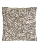 """Fuse Beaded Pillow, 12""""Sq."""
