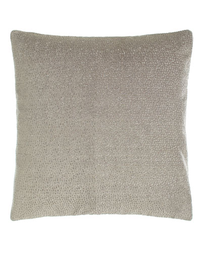 Fuse Embroidered Velvet Pillow, 18