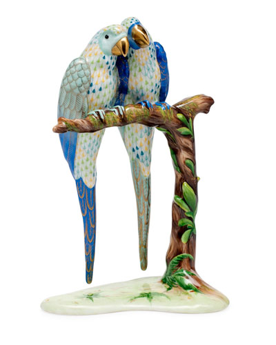 Pair of Macaws Figurine