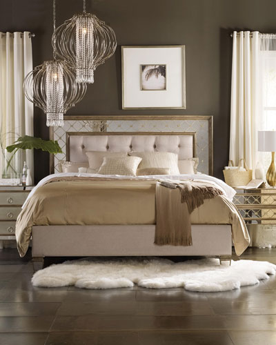 Ilyse Mirrored King Bed