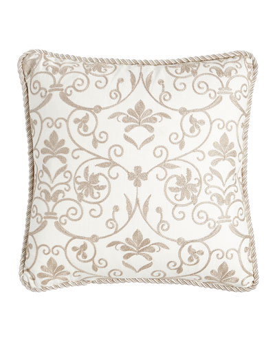 Charlotte Embroidered Pillow, 18