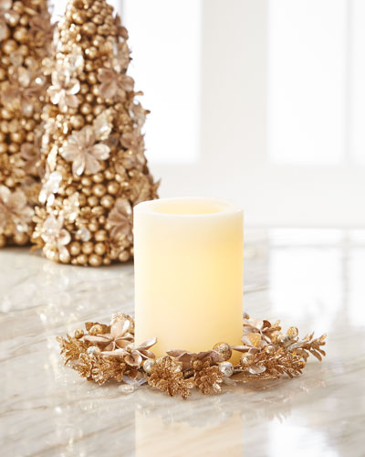 Champagne Flower Candle Ring
