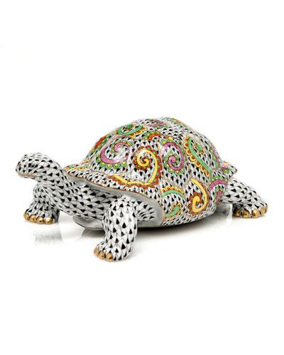 Kaleidoscope Turtle Figurine