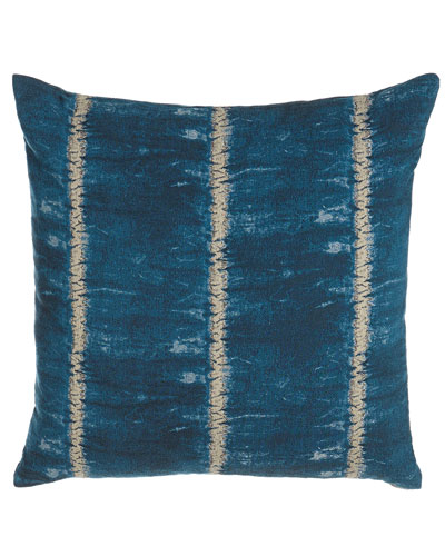 Teal Banded Stripe Pillow