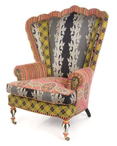 MacKenzie-Childs Kensington Wing Chair