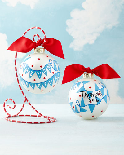 Baby's 1st Christmas Banner Ornament, Boy