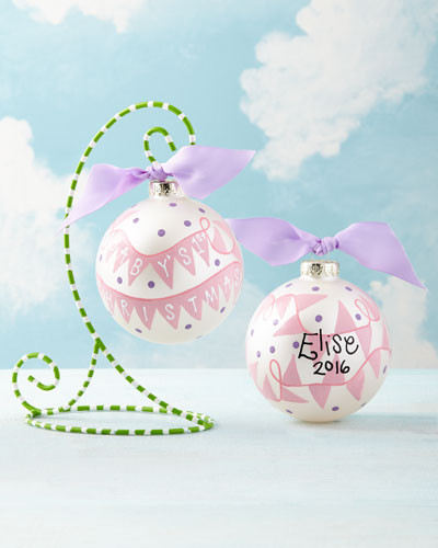 Baby's 1st Christmas Banner Ornament, Girl