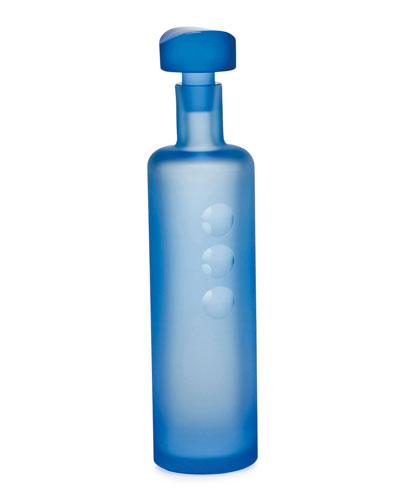 Aquamarine Tipsy Decanter