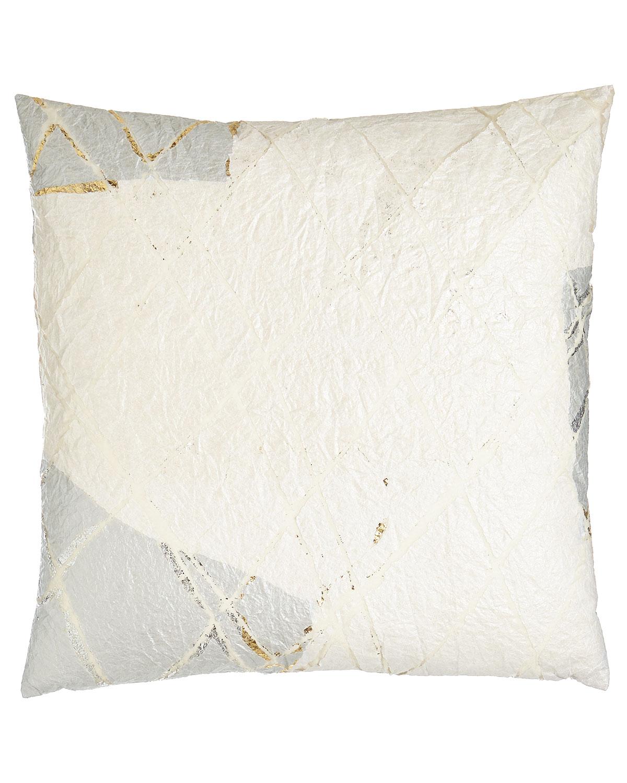 Neutral Luxe White Pillow