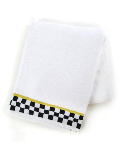 Black & White Check Bath Sheet