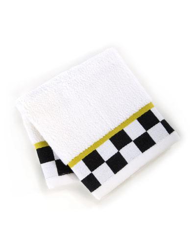 Black & White Check Face Cloth