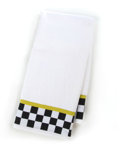 Black & White Check Hand Towel