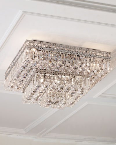 Berlin Crystal Flush-Mount LED Ceiling Light