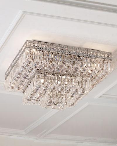 Berlin Crystal Flush-Mount LED Ceiling Light