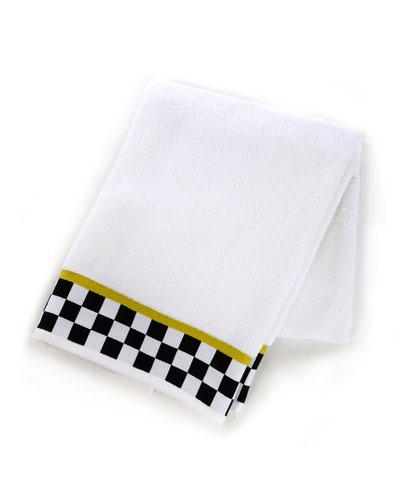 Black & White Check Bath Towel