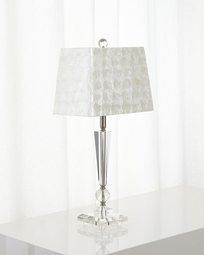 Crystal Lamp with Capiz Shade