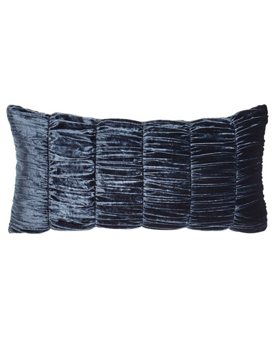 Selena Ruched Velvet Pillow, 12