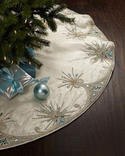 Jewel Tiara Christmas Tree Skirt