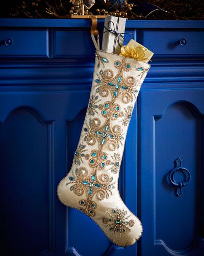 Jewel Tiara Christmas Stocking