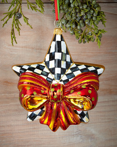 Ribboned Star Christmas Ornament