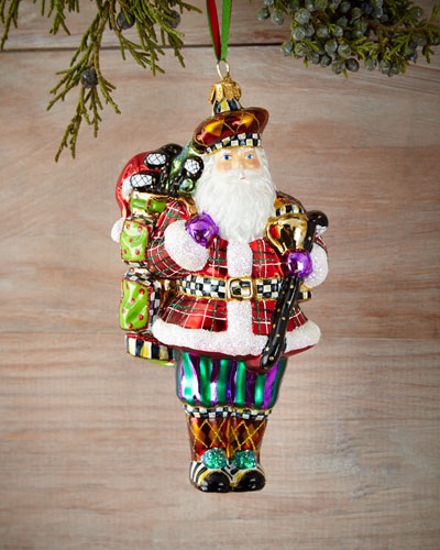 Hole-In-One Santa Christmas Ornament