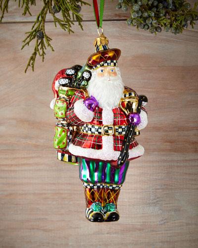 Hole-In-One Santa Christmas Ornament