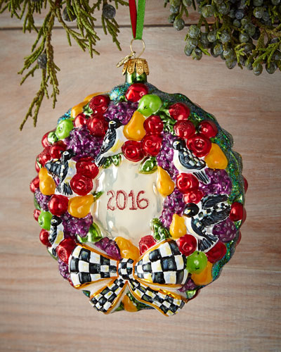 2016 Wreath Christmas Ornament