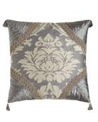 """Geordi Pieced Pillow, 20""""Sq."""