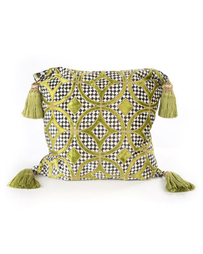 Chartreuse Florentine Pillow